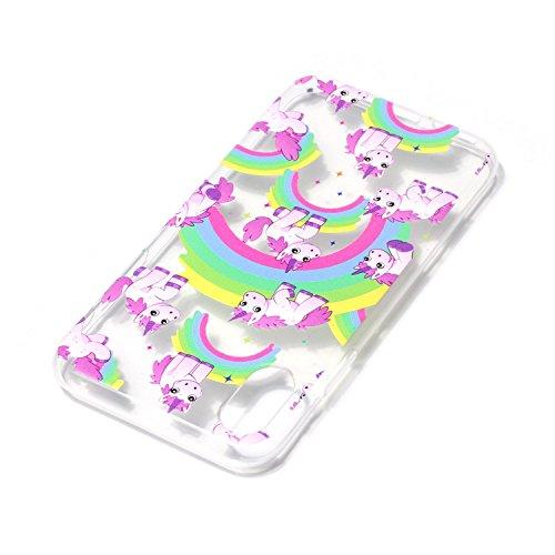 iPhone X Hülle, Voguecase Silikon Schutzhülle / Case / Cover / Hülle / TPU Gel Skin für Apple iPhone X(Eule Campanula 02) + Gratis Universal Eingabestift Regenbogen Einhorn 06