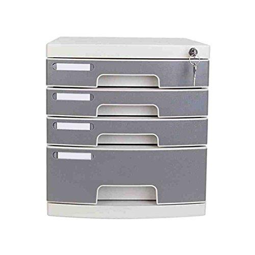 WAOBE 4 Geschlossene Schublade Schreibtisch Speichereinheit Innovative Mit Schublade Desktop Organizer Home Office Archiv Hartplastik Aktenschrank, Dateien, Stifte, Mit Schloss