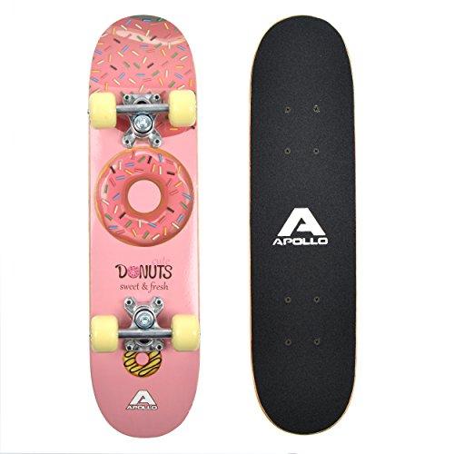 "Apollo Kinderskateboard Donut, kleines Skateboard für Kinder, 24\"" / 61 cm lang"