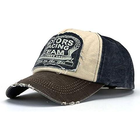 Fortan Nuovo Unisex Berretto da baseball in cotone Moto Cap bordo Grinding vecchio cappello Do