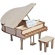 Art & Wood, Piano de Cola con Taburete (maqueta en kit de madera)