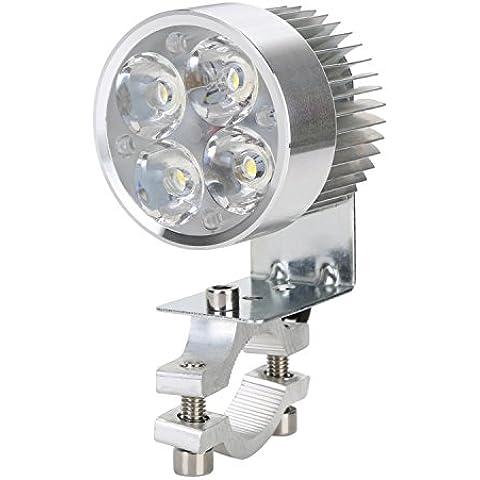 Foco Delantero, OSAN Universal Faro 4 LED Antiniebla Lámpara Foco de Proyector Para Moto Bici