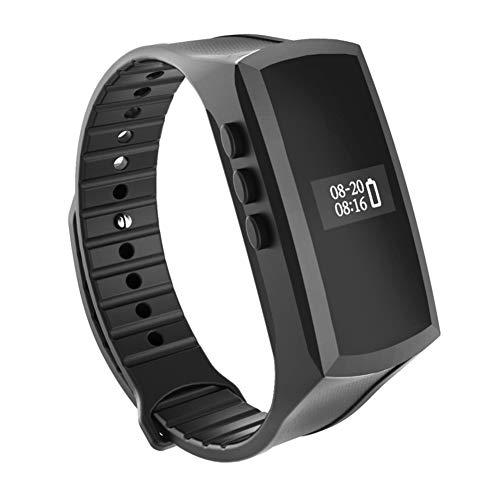 GXLO Intelligente Armband-Sport-Pedometer-Mini-Camcorder-Kamera HD 1080P, Armband-Digital-Voice-Recorder mit Lautsprecher,Black (Handgelenk Voice Recorder)
