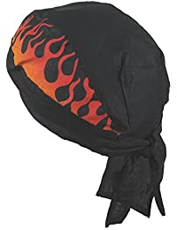 Fitted BANDANA Black With Side Flames