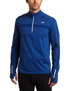 New Balance Herren/Uni Long Sleeve Shirt Megaheat Competitor Half Zip, Limoges, XL (US), MRT1321_LIM