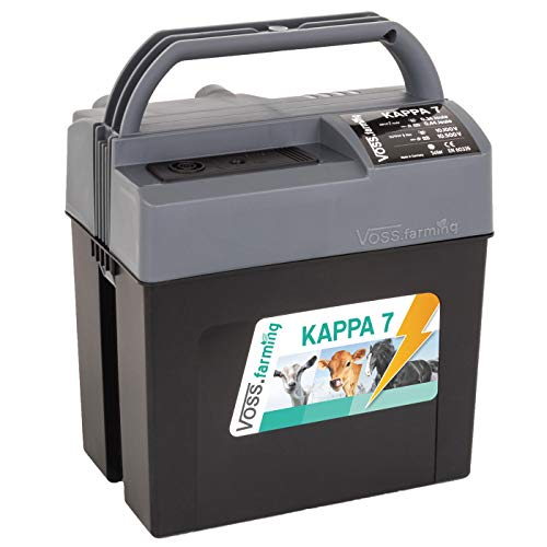 VOSS.farming Weidezaungerät Kappa 7 für 9V, 12V und 230V Elektrozaun Batteriegerät Weidezaun Turniergerät Paddock