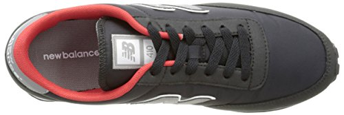 New Balance 487381 60 - Sneaker Unisex - Adulto Nero (Black/Grey/Orange)