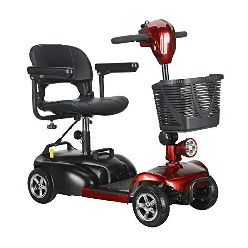 QXue Pliable Scooter Électrique Senior pour Handicapés Scooter...