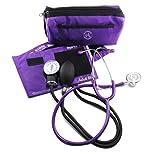 Purple Blood Pressure Cuff with Dual Head Stethoscope Kit