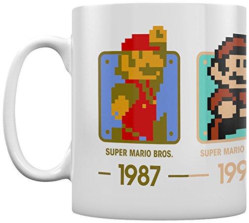Pyramid International Super Mario (Daten) OFFIZIELLER Box Keramik Kaffee/Tee Tasse, Papier, mehrfarbig, 11x 11x 1,3cm (T-shirt Kaffee-wert)