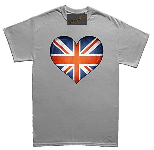 Renowned British 3D Heart inside Unisex - Kinder T Shirt Grau
