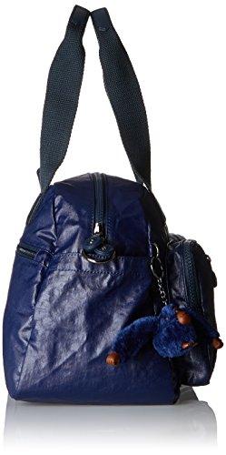 Kipling Damen Defea Henkeltaschen, 33x24.5x19 cm Blau (Lacquer Indigo)