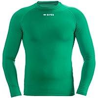 ERMES JR Funktionsshirt (langarm) von Erreà · KINDER Jungen Mädchen Sport Unterziehshirt (lang) aus Polyester · BASIC Slim-Fit Shirt (elastisch) für Teamsport · BASELAYER Kompressionsshirt (endotherm) geringe Kompression (Farbe grün, Größe XXS/XS)