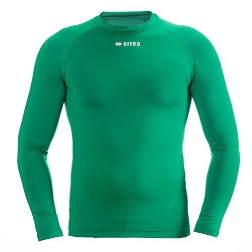 ERMES AD Funktionsshirt (langarm) von Erreà · ERWACHSENE Damen Herren Sport Unterziehshirt (lang) aus Polyester · BASIC Slim-Fit Shirt (elastisch) für Teamsport · BASELAYER Kompressionsshirt (endotherm) geringe Kompression · (grün, XL)