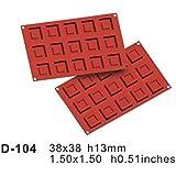 15 de cavidad cuadrada plana antiadherente para hornear de silicona molde de la calidad