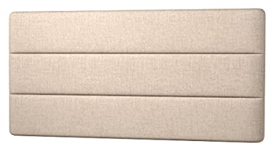 Happy Beds Cornell Lined Headboard, Fabric, Beige Cream Cotton, 5 ft, King Size