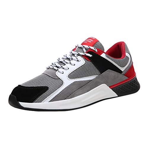 Herren Damen Sneaker Running Laufschuhe Herren Damen Turnschuhe Sportschuhe Straßenlaufschuhe Sneaker Atmungsaktiv rutschfest Trainer für Running Fitness Gym Outdoor 39-44 Von HEVÜY