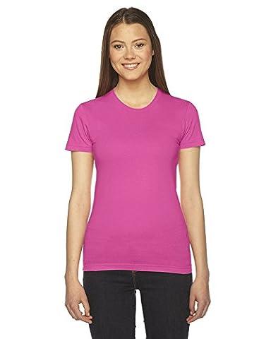 American Apparel Women's Fine Jersey Short Sleeve T-Shirt - Fuchsia - Large (US)