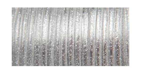 0.0938-Inch Silver Sparkle Pepperell Rexlace Plastic Lace