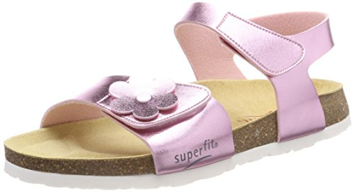 Superfit Mädchen Fussbettpantoffel Offene Sandalen, Pink (Rosa), 34 EU