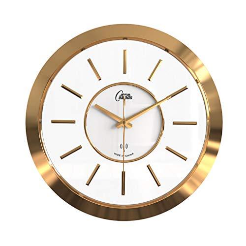 Pocket watch Uhr Uhr British Uhr hängenden Tisch Radio Uhr Wohnzimmer Wanduhr modernen minimalistischen Uhr Hause Wandtafeln stumm (Color : Gold, Size : 40.5 * 40.5 * 3cm)