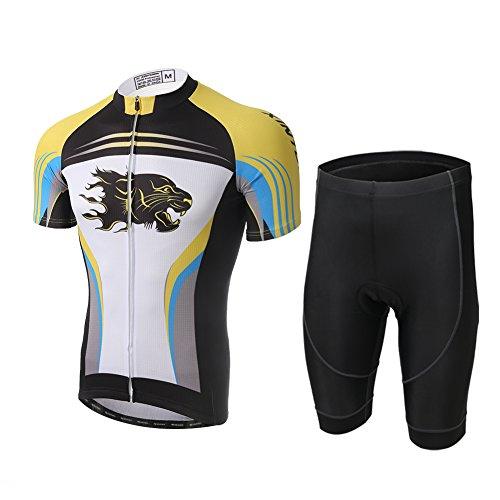 ot Set Fahrrad Trikot Kurzarm + Radhose mit Sitzpolster Radsport, Gepard, XS(Empfohlene Höhe: 160-168cm) ()