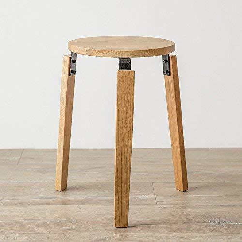 DEED Stuhl Hocker - Home Dining Hocker Fashion Hocker Modern Dining Stuhl rund Hocker Massivholz Stuhl Weiß Eiche Modern Simple Adult Home Hocker,45 * 30 cm