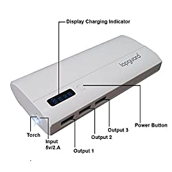 Lapguard LG518 High Capacity Best Power Bank 13000mAh For iPhone, mi, Lenovo, Samsung, Xiaomi, all mobiles, Tablets (White)