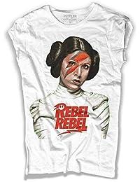 74a5cadb5e5a T-Shirt Donna Principessa Leia Ispirata a Rebel Rebel di David Bowie