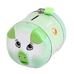 Friends Vert Style cochon Cartoon verrouillable Tirelire Boîte Tirelire