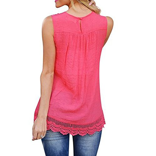 IHRKleid Femme Tops Lace automne Hot Pink