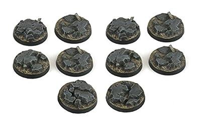 WWG War-Torn City 10 socles Petits pour Figurines 28mm/Heroïque - Warhammer 40000, Infinity, Wargames