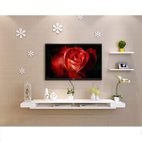 LTJTVFXQ-shelf Weiße Wand schwebende Regalwand mouned Regal Fernsehschrank Fernsehkonsole Fernsehregal Kabel Box DVD-Player Speicher Regal Wand Hintergrund dekorative Regal (größe : 150cm) (Wand Dvd Player Regal)