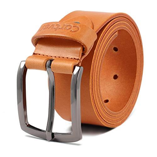 Cartvelli Premium Echt Ledergürtel Herren Cuero braun mit Geschenk Box Made in Germany Breite 3,8 cm 100{77644411be71151d4216a2a4346255686e5008f94c2856212d16039586b24505} Rindsleder Leder Gürtel M18c - Bundweite 80