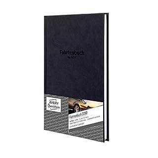 AVERY Zweckform 223D Fahrtenbuch (für PKW, Hardcover vom Finanzamt anerkannt, A5, 96 Seiten insgesamt 517 Fahrten, mehr Platz pro Eintrag, für Deutschland und Österreich zur Abgrenzung privater)