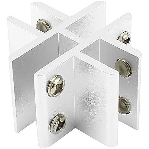 11mm Cruz Tipo 4 maneras de aluminio abrazadera de cristal del clip de la bisagra de la puerta de la ducha