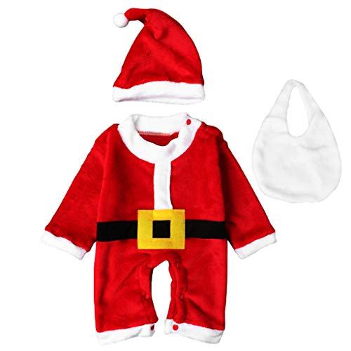 P Prettyia Weihnachtskostüm Weihnachtskleid Baby Mit Weihnachtshut - -