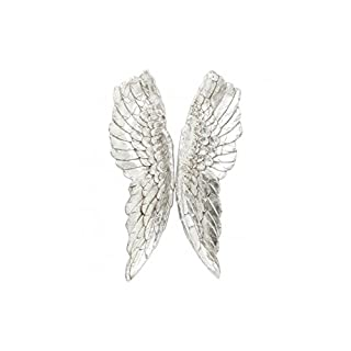 KARE Wall Art Angel Wings Accessories (38448 Poly Resin Coated (Aluminium) – Silver – 5 x 61 x 106 cm