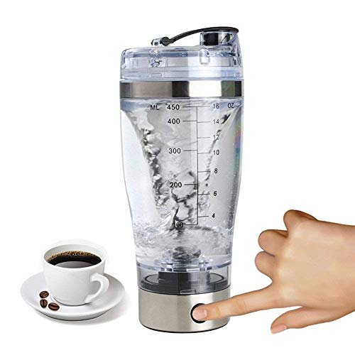 Biggroup - Taza de café con cable USB recargable para batidora de proteínas eléctrica,...