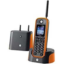 Motorola Schnurloses teléfono analog O201 manos libres, Outdoor, wasserdicht, stoßfest Orange, gris