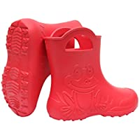 SAPRO SYSTEM Frog Kids Boys Girls Wellies Rain Boots Warm Fleece-Lined Light Unisex Children Wellington Boots PVC-Free EVA