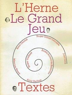 L'Herne - Le Grand Jeu