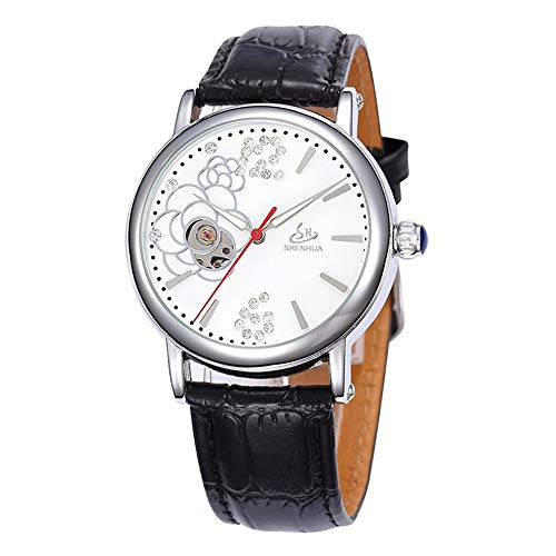 HWCOO Orologi meccanici Shenhua/orologio meccanico automatico vuoto da donna (Color : 7)