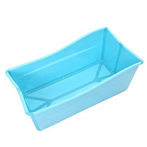 Badewannen Haushaltsgroße Babywanne faltende Plastikwanne der Kinder Kinder können in der Badewanne sitzen 77 * 43 * 29cm (Color : Blue) (Falt-wand-sitz)