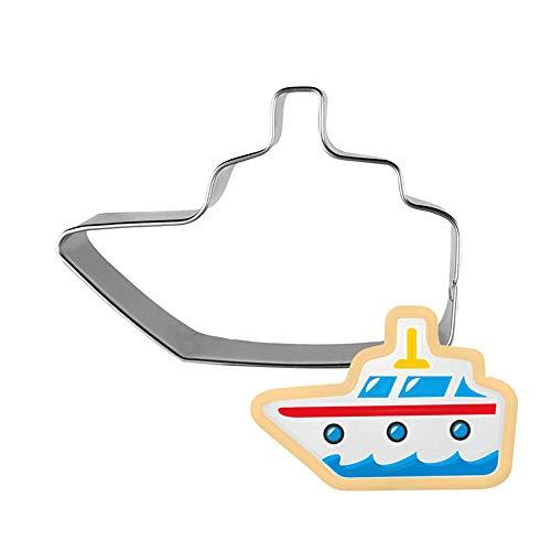 AMWFF Ausstechformen 5pcs / Packet Backen Werkzeug Utensilien Schiff Dampfer Gedämpft Brotform Kuchenform Yacht Schnelles Boot Luftschiff Schnittform Keksform (Boot-kuchenform)