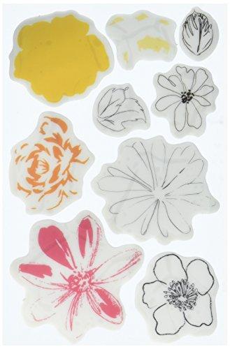 Prima Marketing Prima Cling Stamps 4-inch x 6-inch Glorious Flora, Acrylic, Multicolour
