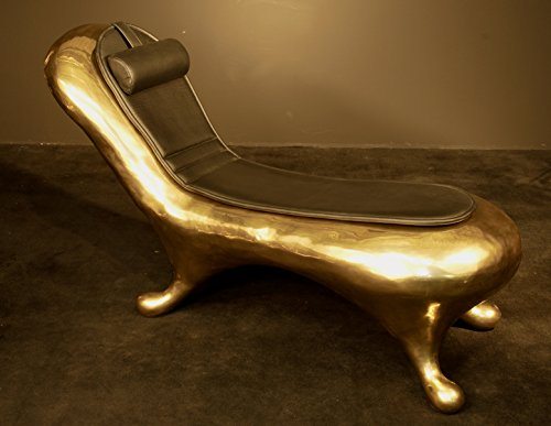 FINE ARTS Wohnkultur Liege Kanapee Sofa Bronze Skulptur Liebe Statue Deko Lebensgroße Bank