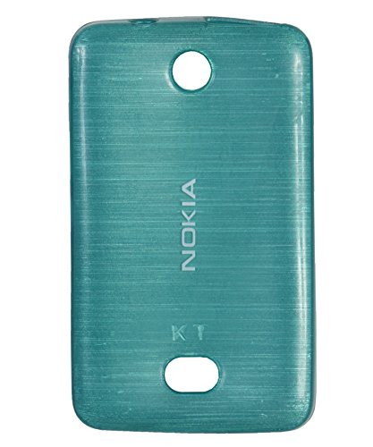 iCandy Soft TPU Shiny Back Cover for Nokia Asha 501 - Turquoise  available at amazon for Rs.109