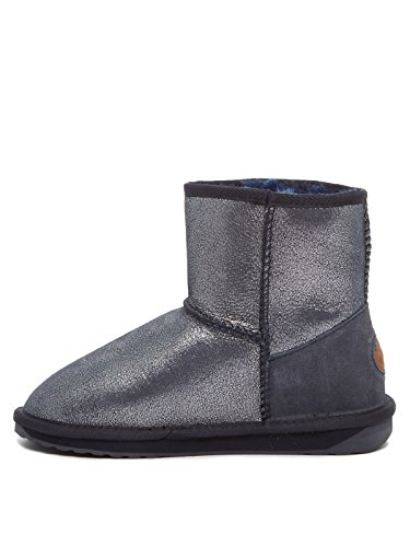 EMU Australia Damen Stinger Metallic Mini Midnight Schneestiefel, Mehrfarbig (Metallic Midnight), 40/41 EU (Stinger Emu)