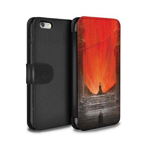 Offiziell Chris Cold PU-Leder Hülle/Case/Tasche/Cover für Apple iPhone 6S / Bösen Herzens Muster / Dunkle Kunst Dämon Kollektion Hohe Königin